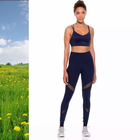 36c8804c24db26 Old Navy Pants | High Rise Mesh Panel Elevate Compression Leggings ...